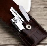 韩国777指甲刀套装 指甲剪钳修容组合3件套 NTS-501方格纹有现货!可加印LOGO!