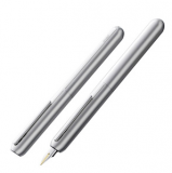 LAMY凌美钢笔墨水笔 焦点3伸缩焦点汉漆14k金钢笔F尖