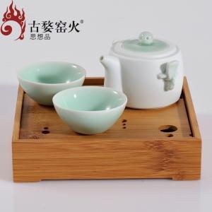 古婺窑火 天一壶 一壶二杯+茶盘