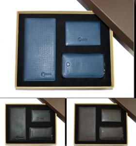 商务套装(长钱包+钥匙包+名片包)