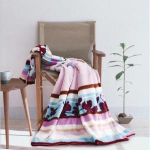罗莱家纺Q176花开绚烂法兰绒毯