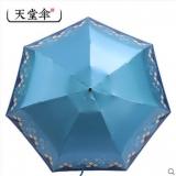 天堂伞 小巧口袋雨伞 五折晴雨伞 防紫外线迷你黑胶防晒轻太阳伞