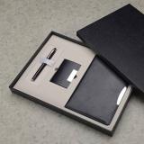 签字笔+名片盒+A5平装笔记本 商务套装 记事本套装