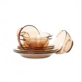 美国康宁VISIONS  百丽玻璃透明餐具  八件套  8P-RZ/CN