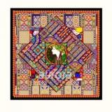 奥罗拉丝巾方巾(90*90cm)B1系列-礼品定制