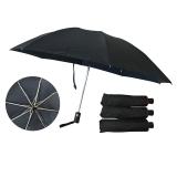 三节自开收反向碰击布素色伞,支持logo定制