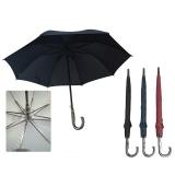 自动雨伞,碰击布材质素色直杆雨伞,支持logo定制