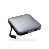 麦泡 MIPOW苹果mfi认证自带线移动电源iPhone6/7/8便携迷你超薄大容量 9000mAh
